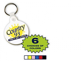 Promotional products: Flexible key-rings, round