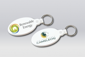Promotional products: Flexible key-rings, oval