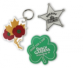 Promotional products: Custom Shape Badges Or Key-rings