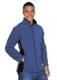 Promotional products: Mens Microfleece Contrast Jacket