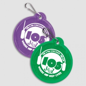 "Promotional products: Small 2"" Zip-around Zipper Pull / Reflector"