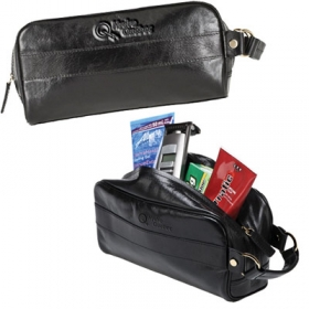 Promotional products: The Tonic - Leather Toiletry Case