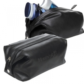 Promotional products: The Capsule - Leather Toiletry Bag