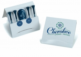 "Promotional products: Matchbook tee pak - 3 1/4"" tees - mblt"