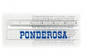 "Promotional products: 6"" ruler with magnifier"