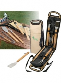 Promotional products: 5 pc. Bamboo BBQ Set