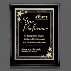 "Promotional products: Farnsworth/Starburst Plaque - Black/Black 7""x9"""