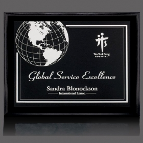 "Promotional products: Farnsworth/Gemini Plaque - Black/Black 7""x9"""