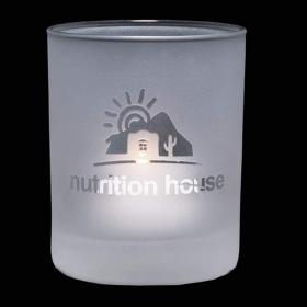 "Promotional products: Evaton Frosted Candleholder - 2½"" Small"