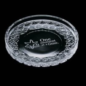 Promotional products: Cuthbert Coaster - Lead Crystal 4""