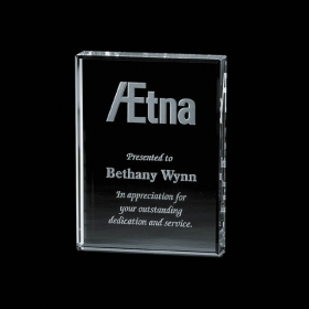 "Promotional products: Verona Paperweight - Starfire 3""x4"""
