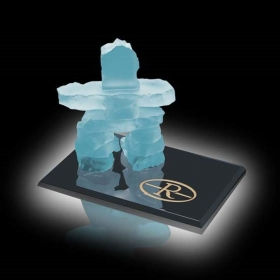 Promotional products: Inukshuk on Ebony - Frosted 2½""