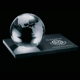 Promotional products: Globe Paperweight - Optical 2-3/8""