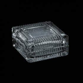 """Promotional products: Ashbury Glass Box - 4"""" Square"""