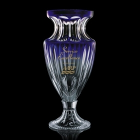 Promotional products: Octavia Trophy - Lead Crystal/Blue  15""