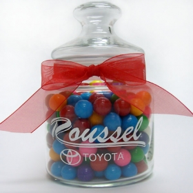 Promotional products: Glass jar filled with candies