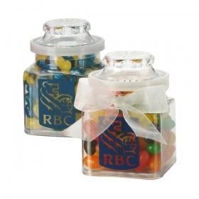 Promotional products: Plastic jar filled with candies