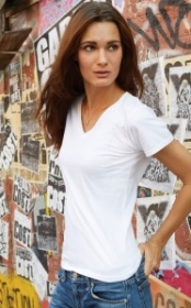 Promotional products: Womens Crs Fashion V-neck Tee