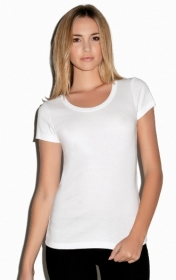 Promotional products: RIB SCOOP NECK S/S T-SHIRT