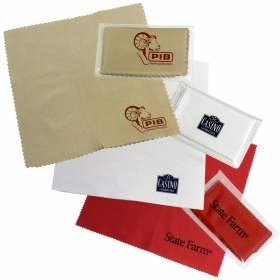 "Promotional products: Pad Printed MicroFiber Lens Cloth - 4"" x 7"""
